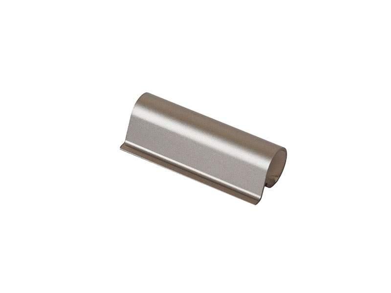 Накладка декоративная верхней петли створки алюминиево-стальной