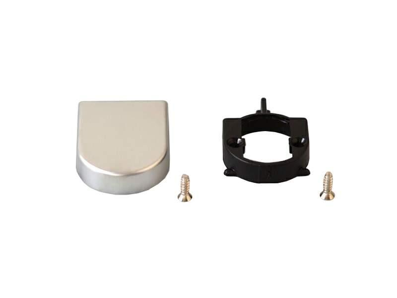 Накладка декоративная для петли QS стеклянных дверей, матовый хром. FGV0089