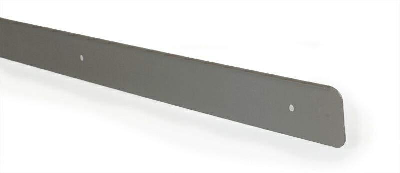 Накладка торцевая для столешницы R6 алюминий, серая, правая. ZDN0638.43/R