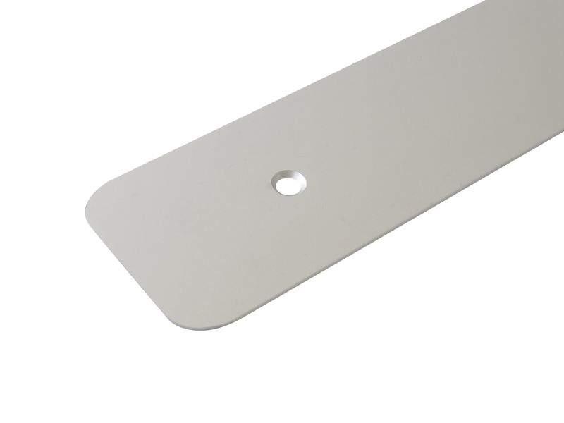 Накладка торцевая для столешницы R6 алюминий, правая. ZDN0638.02/R