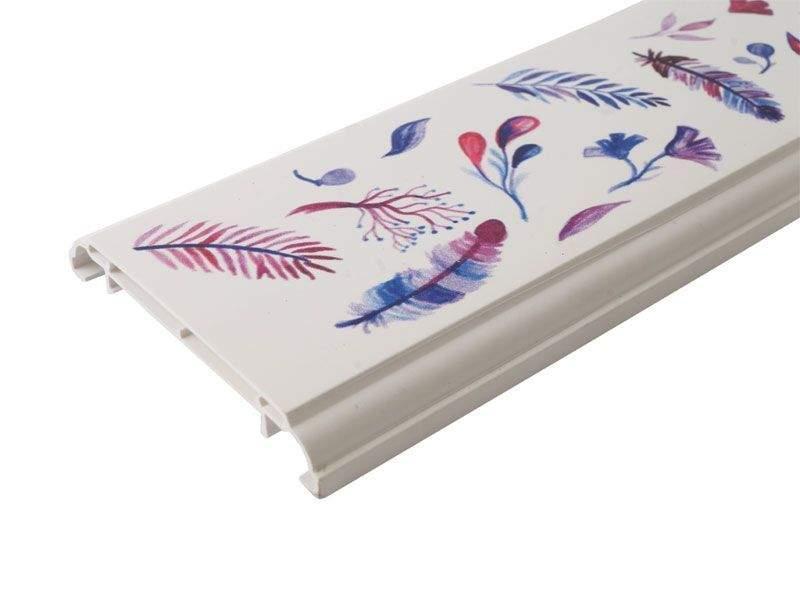 Наличник KNL N-75мм УФ-печать (Акварель) белый 3,0 м. KNL0010.07/4