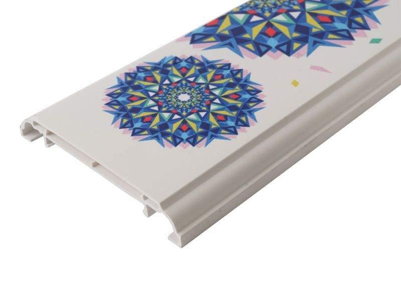 Наличник KNL N-75мм УФ-печать (Геометрия) белый 3,0 м. KNL0010.07/5
