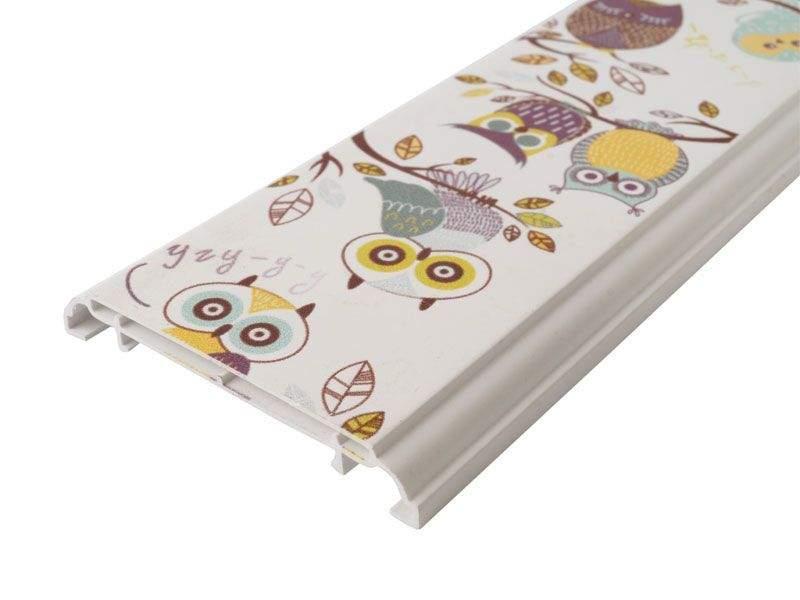 Наличник KNL N-75мм УФ-печать (Совы) белый 3,0 м. KNL0010.07/1