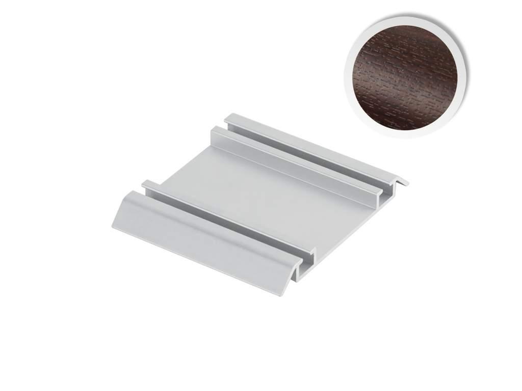 Направляющая нижняя FIRMAX, алюминий в ПВХ, венге, L=5800 мм. FRM2403.68/7