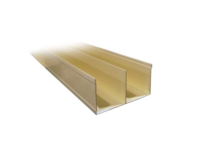 Направляющая верхняя, алюминий, золото, 5800 мм. PRO3402.09