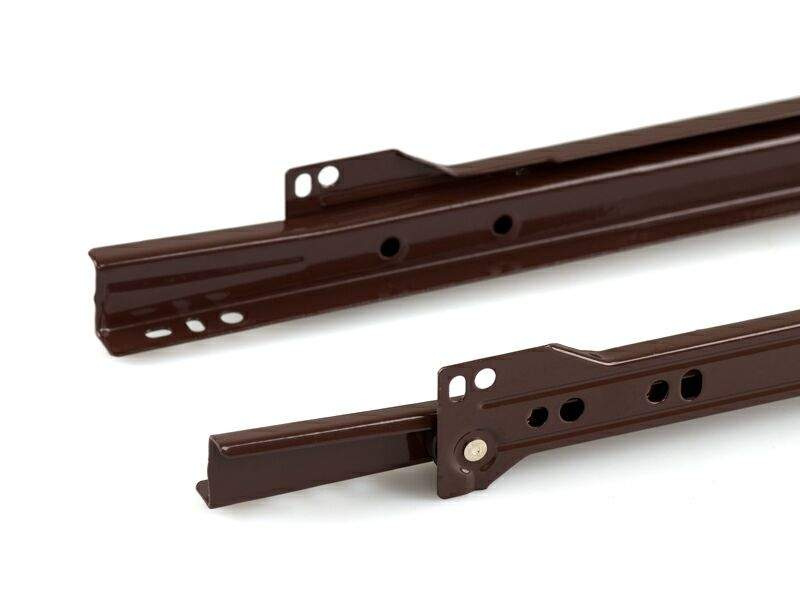 Роликовые направляющие Firmax 350мм, коричневый (4 части). FRM0272.05