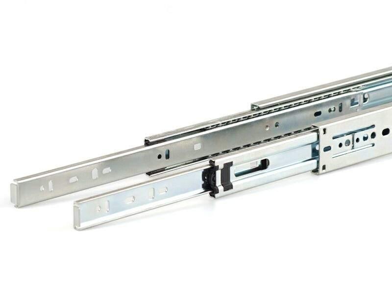 Шариковые направляющие Firmax полного выдвижения, H=45 мм, L=200 мм цинк (2 части). FRM0419