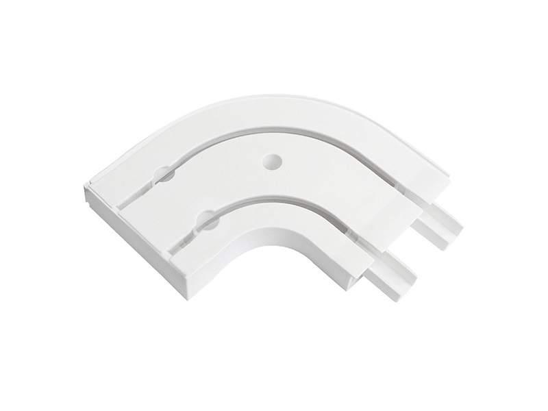Оконцовка для шины потолочной 2-х рядной, 2 шт в упаковке, белая. ESK20012