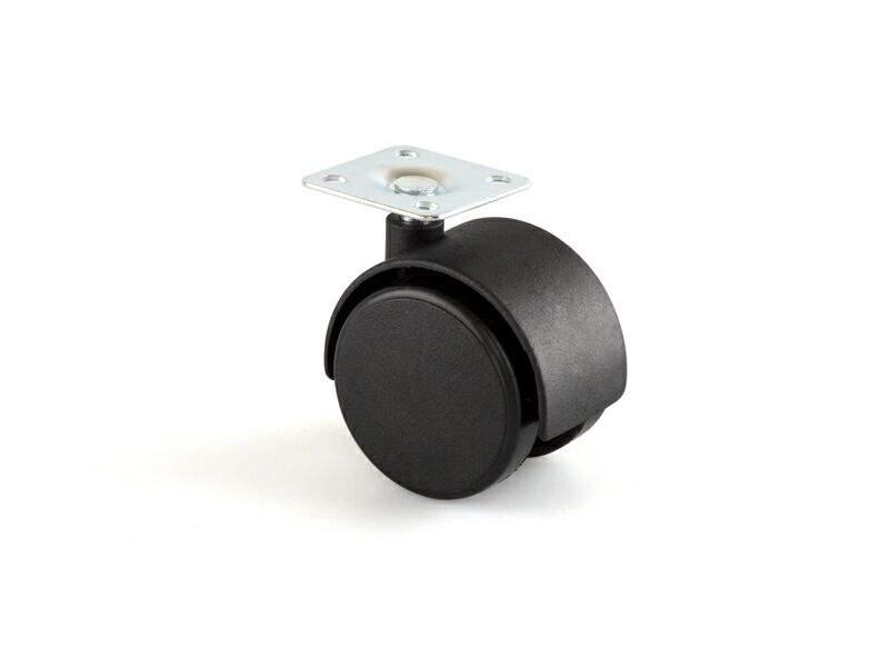 Опора колесная без тормоза FIRMAX, d=40 мм, шуруп, пластик, черный (2ч) JA02. FRM0581