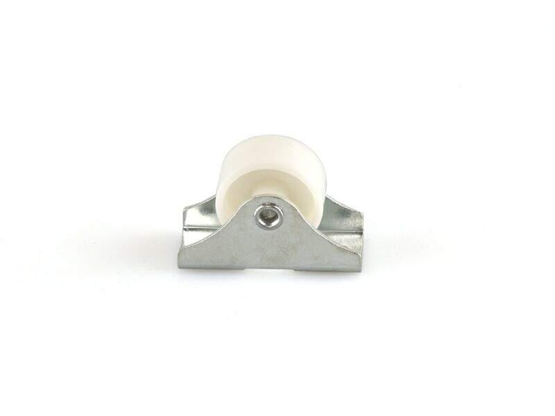 Опора колесная прямого хода FIRMAX, d=25 мм, сталь, пластик, белый JA17. FRM0589