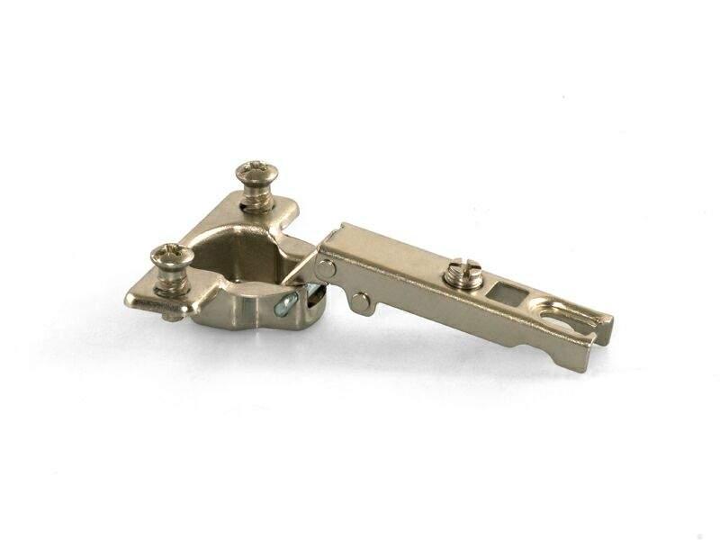 Петля QS для накладных дверей с алюминиевым профилем, угол открывания 105°, 38мм, D=26, шуруп. FGV0023