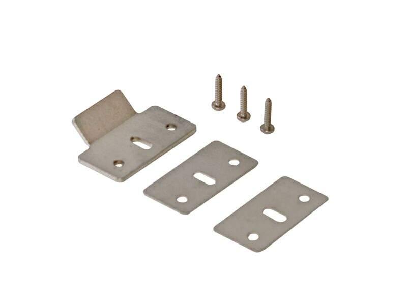 Планка ответная для антипаники ПВХ и деревянных дверей (ответка, 2 подкладки, 3 винта). GIE4718