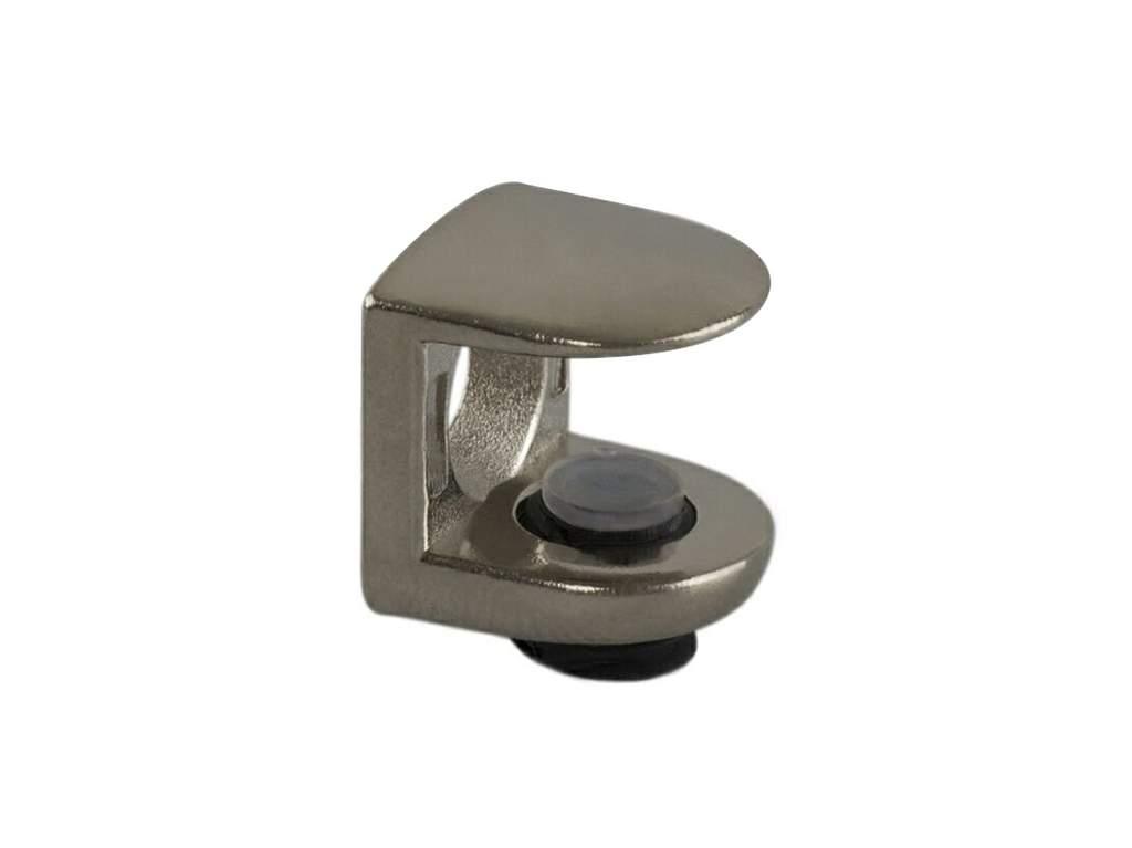 Полкодержатель для стеклянных полок FIRMAX, H=9 мм, цинк, никель. FRM0668