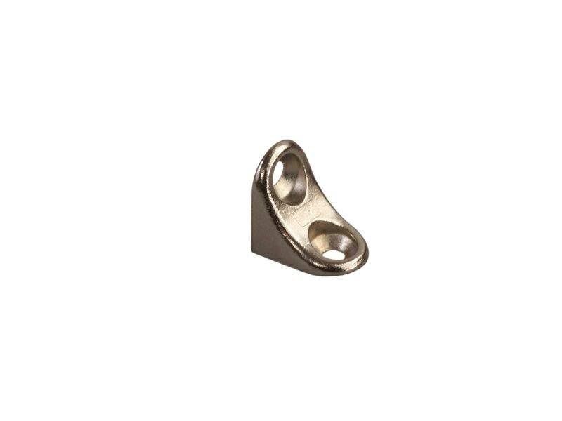 Полкодержатель уголок с отверстием под саморез FIRMAX, цинк, никель. FRM9103