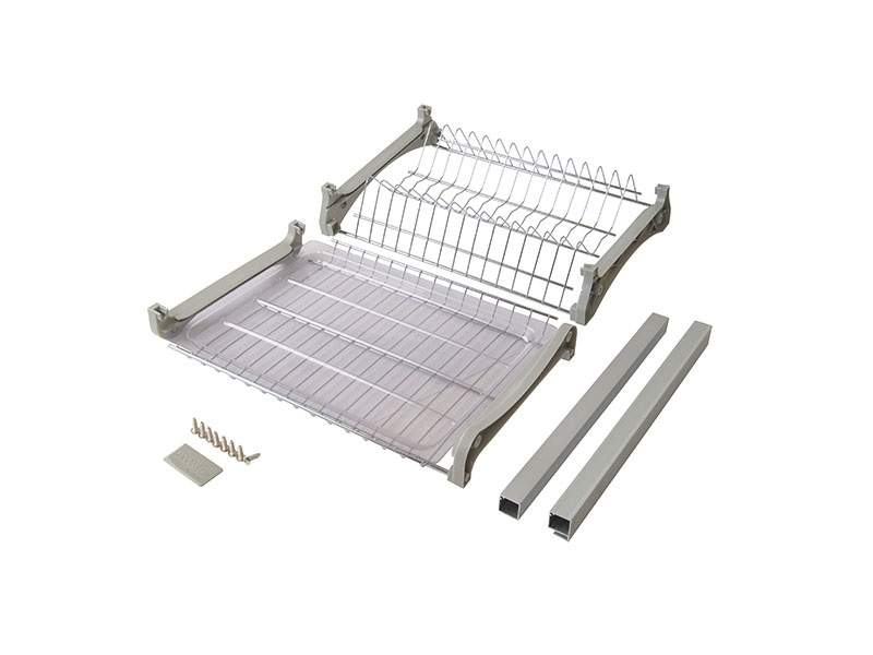 Комплект сушек для посуды FIRMAX база 400, ширина 368мм, с рамой (сушка для тарелок, сушка для чашек, поддон, саморезы). FRM5089.040