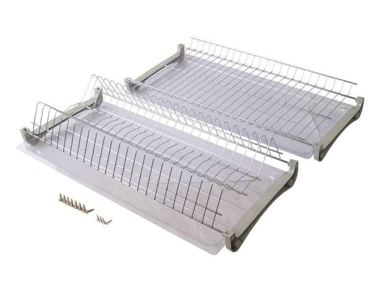 Комплект сушек для посуды FIRMAX база 600, ширина 565мм, без рамы (сушка для тарелок, сушка для чашек, поддон, саморезы). FRM5088.060