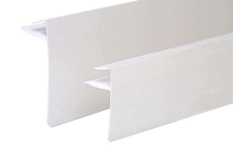 Профиль (F) конечный VPL 40 мм белый 6,0 м