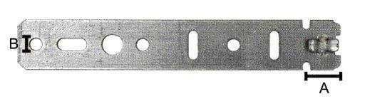 Пластина анкерная для профиля Gutmann, 165 мм. 801100