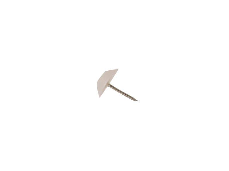 Опора с гвоздем FIRMAX, d=14 мм, сталь, цинк, пласт, белый JA28. FRM0595