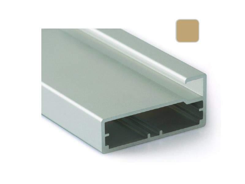 Профиль 45/9 золото, 5800 мм для рамочных фасадов. FRM2820.09/11