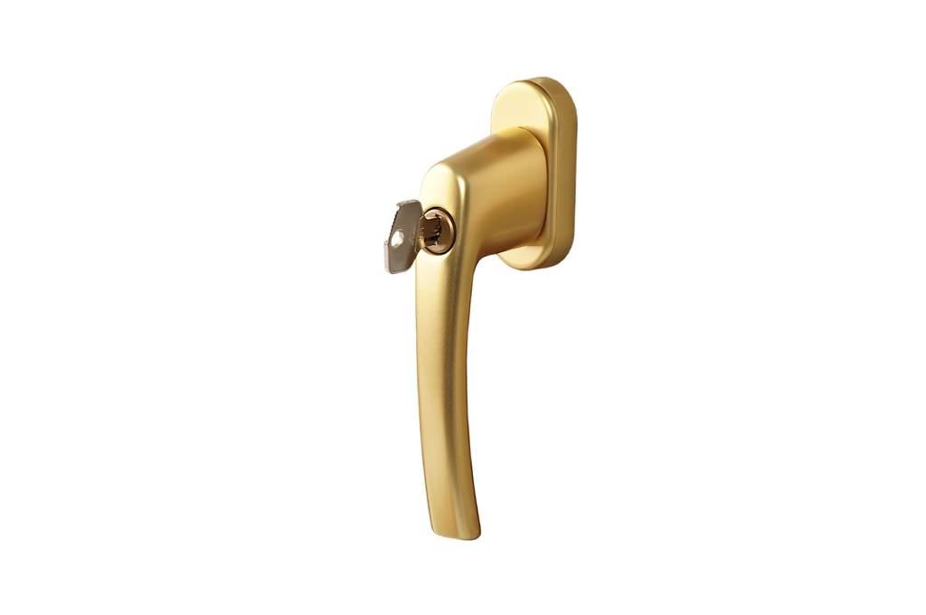 Ручка Rotoline с ключом/без логотипа 35мм, золотистый матовый/золотистый R03.1