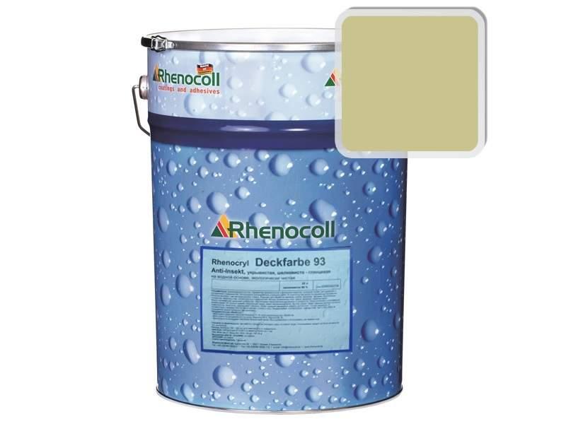 Краска фасадная Rhenocryl Deckfarbe 93C RAL 1000 шелковисто-глянцевая, 1л. RHF0001/01