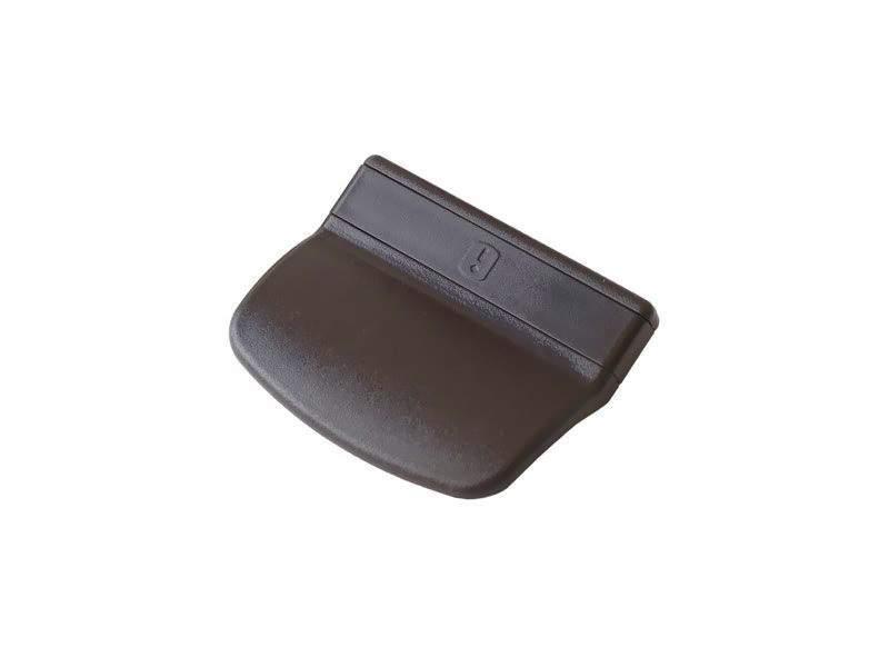 Ручка балконная Интерника (2 части), коричневая