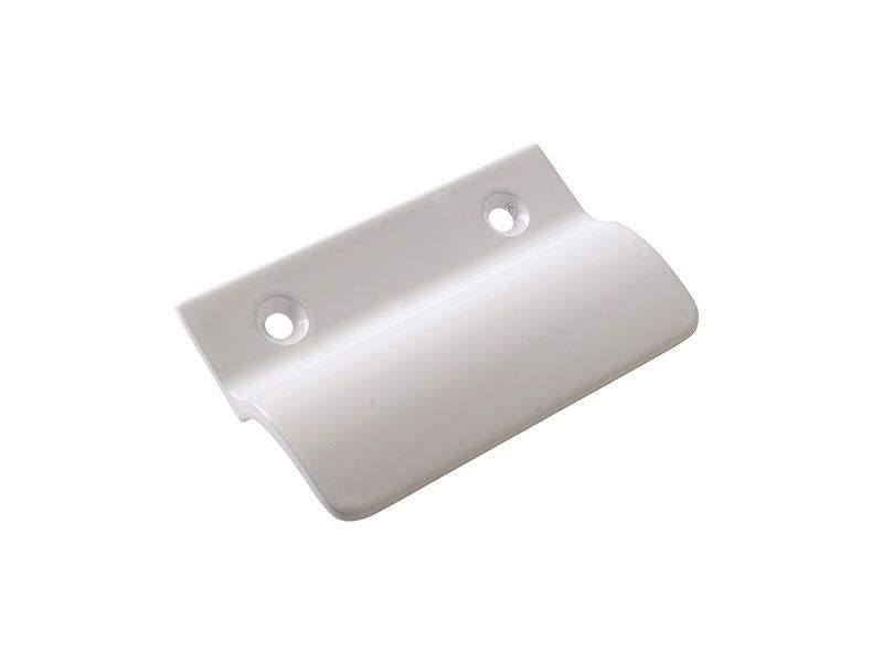Ручка балконная Internika, металлическая, белая. INT0051.07