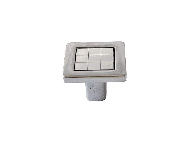 Ручка кнопка со вставкой Mico 6064, хром. MIC6064/06.02