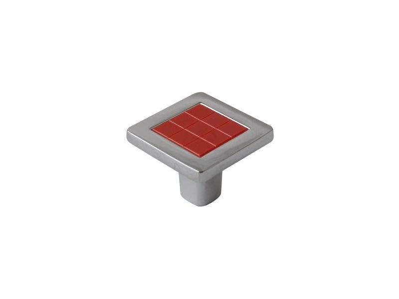 Ручка кнопка со вставкой Mico 6064, красный. MIC6064/06.08