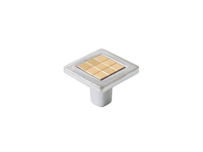 Ручка кнопка со вставкой Mico 6064, золото. MIC6064/06.10