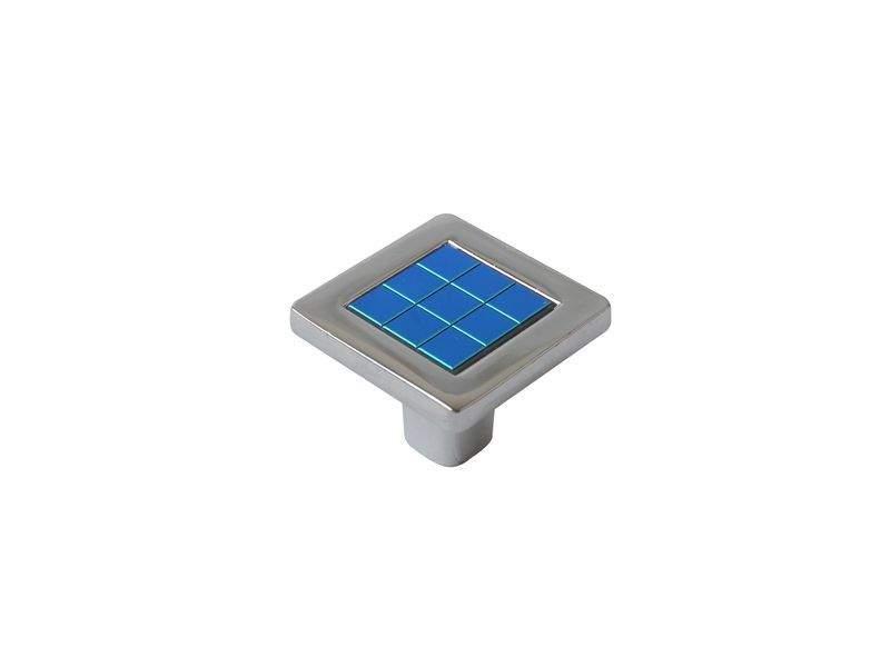 Ручка кнопка со вставкой Mico 6064, хамелеон сине-зеленый. MIC6064/06.11