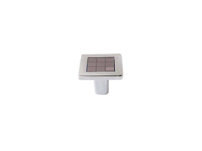 Ручка кнопка со вставкой Mico 6064, антрацит. MIC6064/06.19