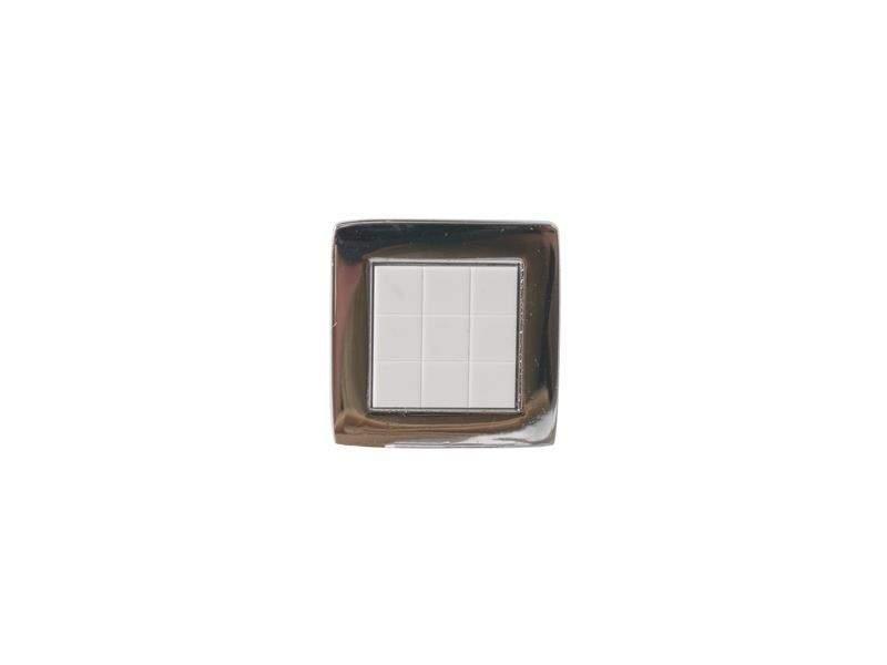 Ручка кнопка со вставкой Mico 6064, белый. MIC6064/06.20