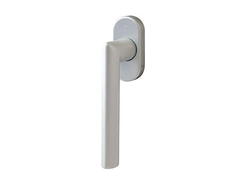 Ручка оконная Hoppe Stockholm Secustik+SecuSan, vario fit 32-42 мм, серебро, 2 винта. HOP5001.01/2