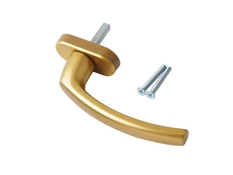 Ручка оконная Internika FILIZ, 35 мм, золото, с винтами. INT0040.09