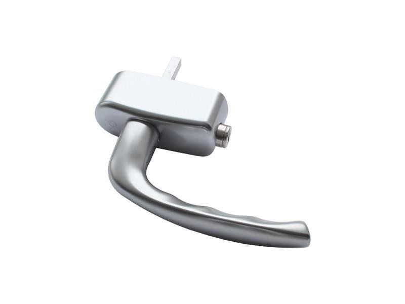 Ручка оконная с ключом Hoppe New York, 37 мм, титан, 2 винта. HOP4006.54