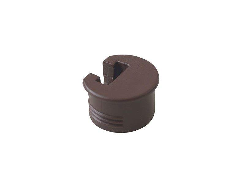 Стяжка-полкодержатель D20х12,5 (для ДСП 16 мм), пластик, коричневый SI03. PRM0090.05