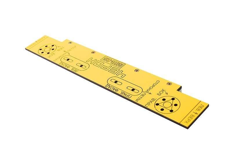 Шаблон для разметки отверстий, для установки газлифта., МШ-25. MSH0025