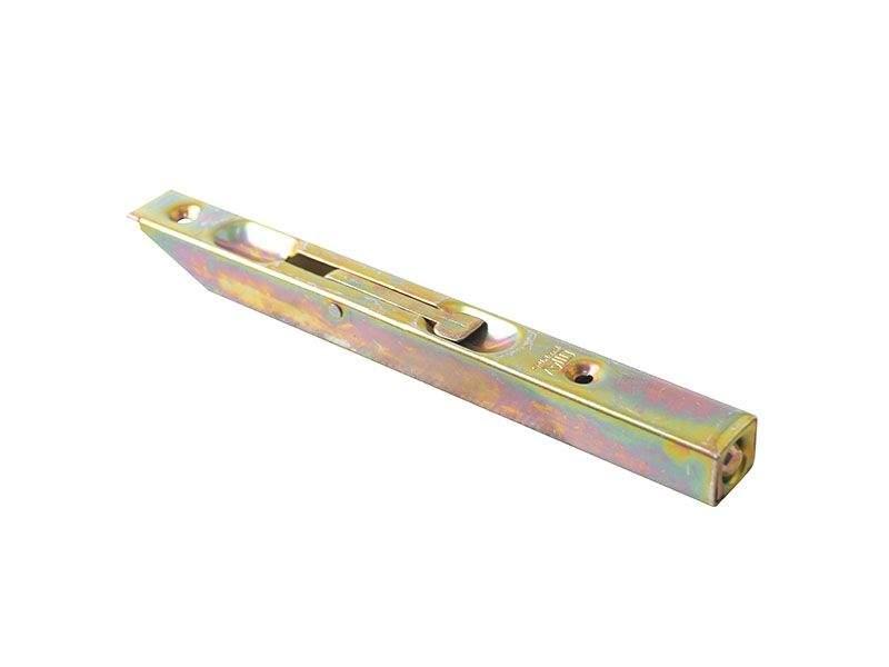 Шпингалет для деревянных дверей 160мм бихром с ответной планкой. OTL0050.03