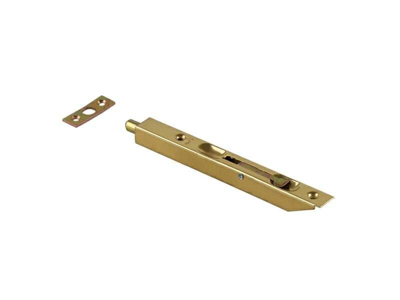 Шпингалет для деревянных дверей 160мм латунь с ответной планкой. OTL0050.20
