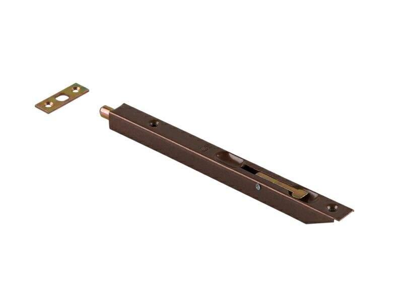 Шпингалет для деревянных дверей 200мм бронза. OTL0051.27