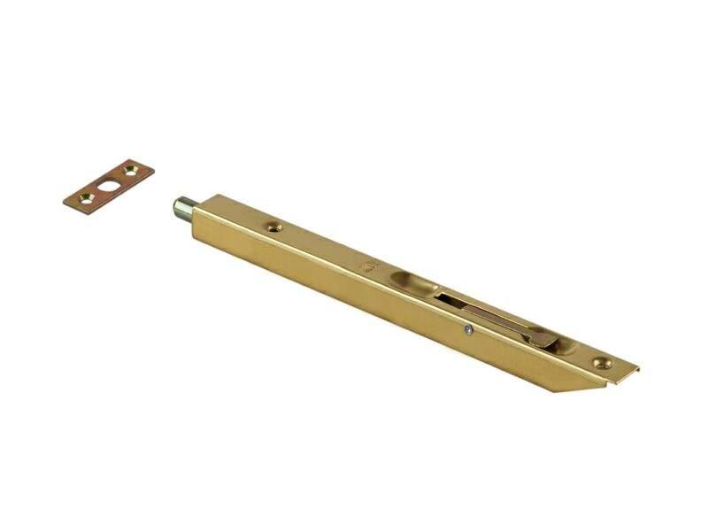 Шпингалет для деревянных дверей 200мм латунь. OTL0051.20