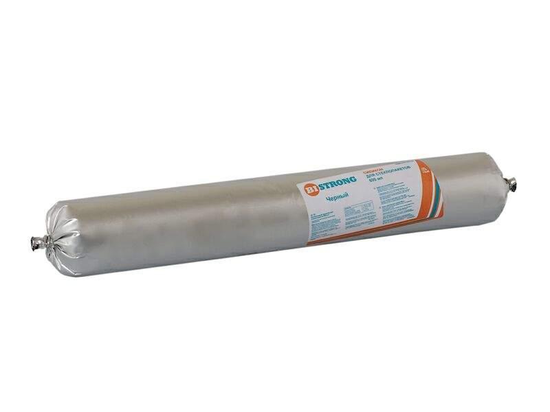 Силикон для стеклопакетов Bistrong T, чёрный, 600мл. BIS0043