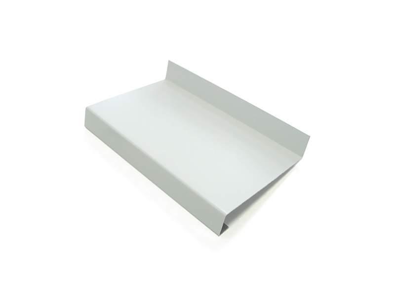 Слив наружный алюминиевый 130 мм белый, 6м. WE 130-01/6
