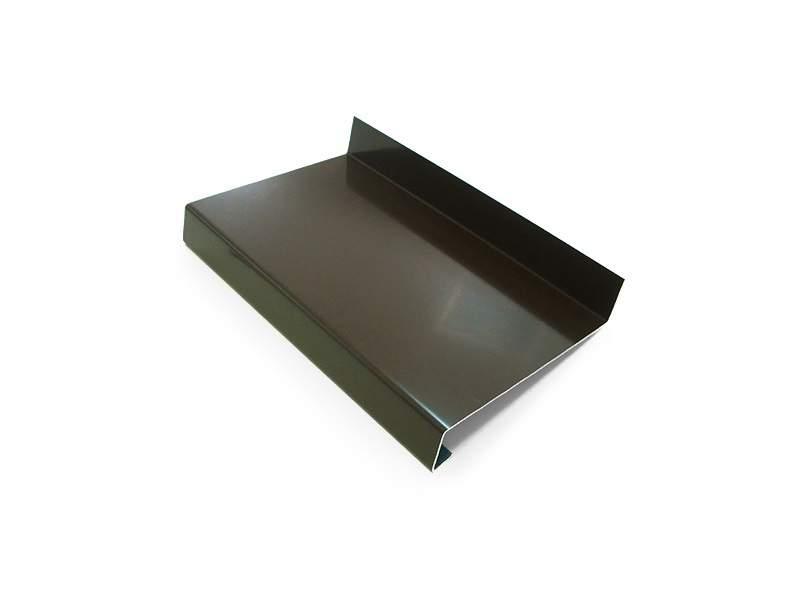Слив наружный алюминиевый 130 мм коричневый, 6м. WE 130-02/6