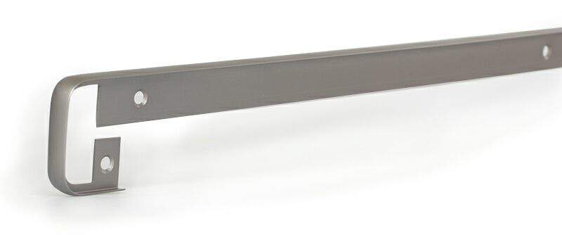 Соединительный профиль для столешницы R6 180 градусов, алюминий, серая. ZDN0638.43/180