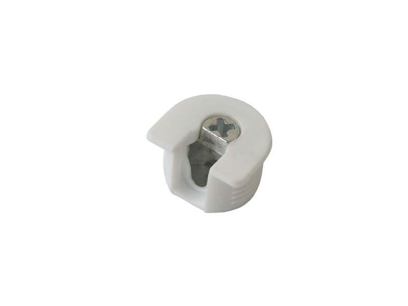 Стяжка-полкодержатель для плиты 16мм, +дюбель L=11мм FIRMAX, белая. FRM0408.07/1