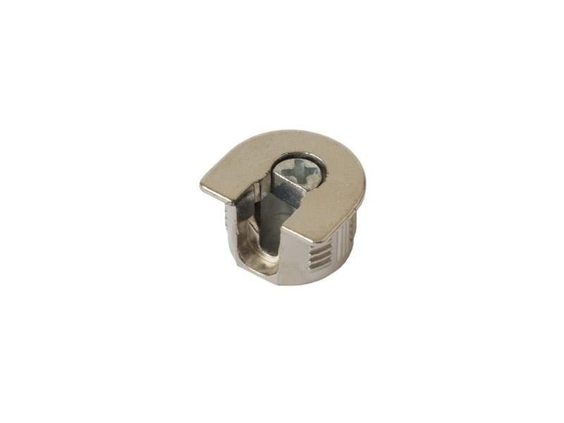 Стяжка-полкодержатель для плиты 16мм, +дюбель L=11мм FIRMAX, цинк, никель (2 части). FRM0408.67/1
