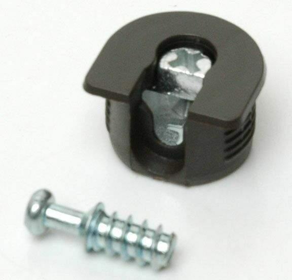 Стяжка-полкодержатель для плиты 16мм, +дюбель L=11мм FIRMAX, коричневая (2 части). FRM0408.05/1